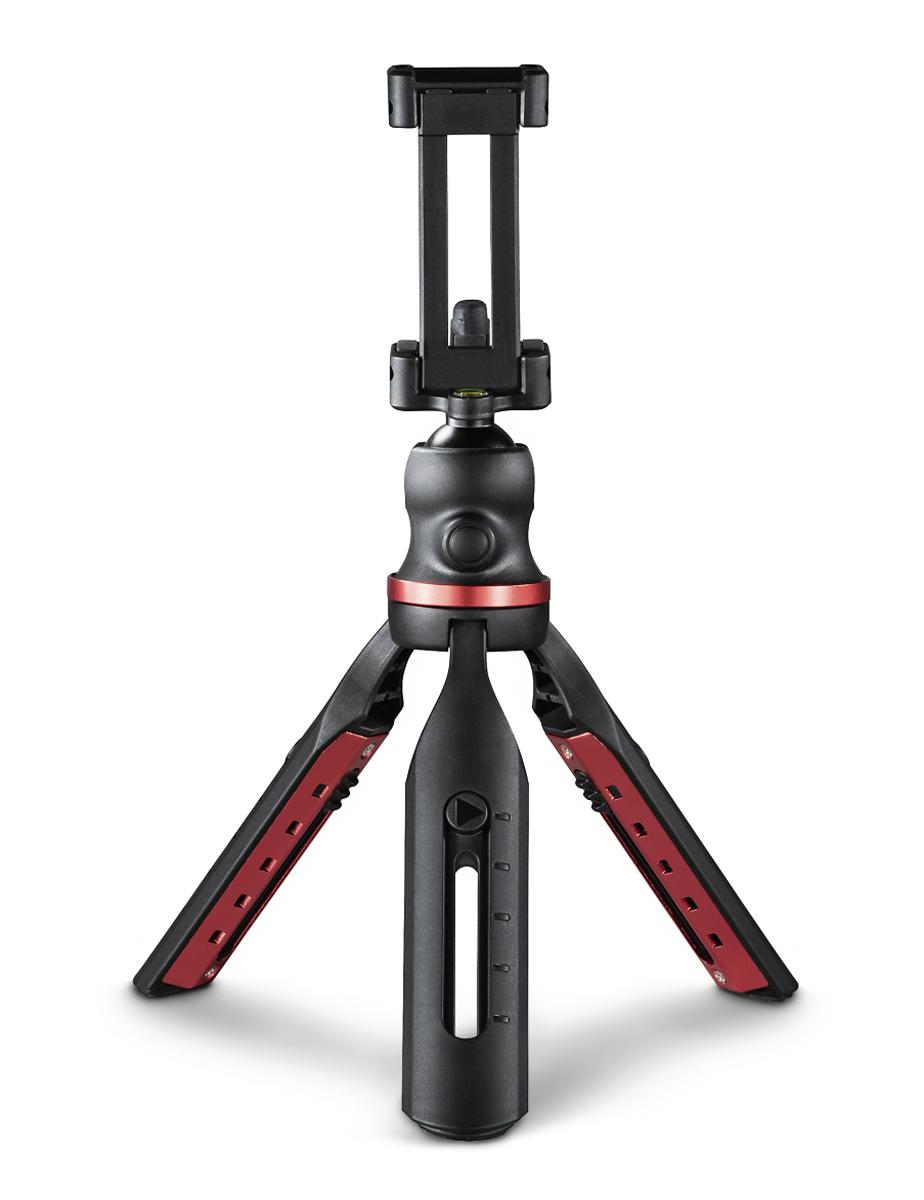 Hama Solid Tischstativ mit Kugelkopf für Smartphone und Kamera, 19B