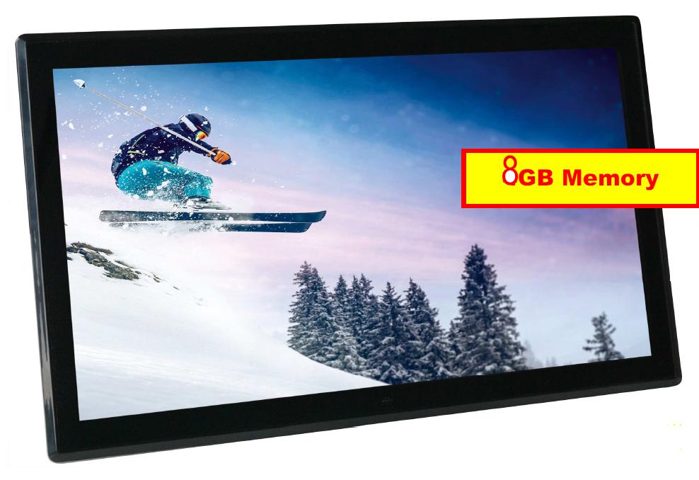 "Braun 17,3"" Digi Frame 1731, 8GB IPS HDMI VESA, Digitaler Bilderrahmen"