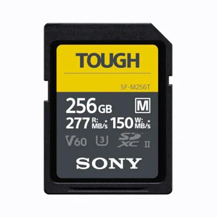 Sony SDXC-Karte 256GB Cl10 UHS-II U3 V60 TOUGH, 277/150 MB/s