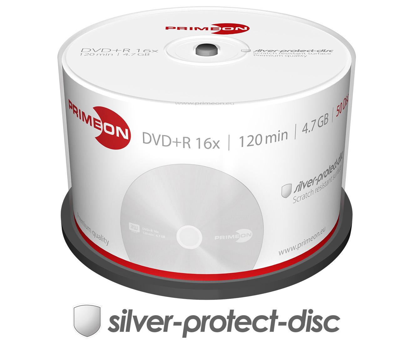 Primeon DVD+R 16x, 50er Spindel