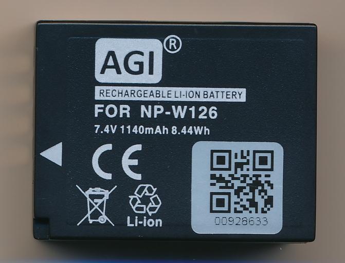 Agi NP-W126 für FUJIFILM X Kameras